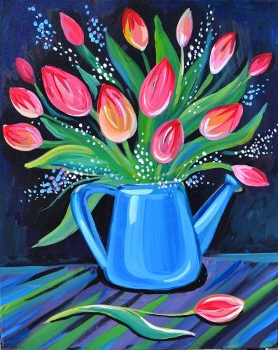 A Tulip Spring Glory paint nite project by Yaymaker