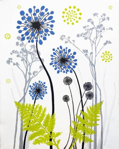 A Cornflower Blue paint nite project by Yaymaker
