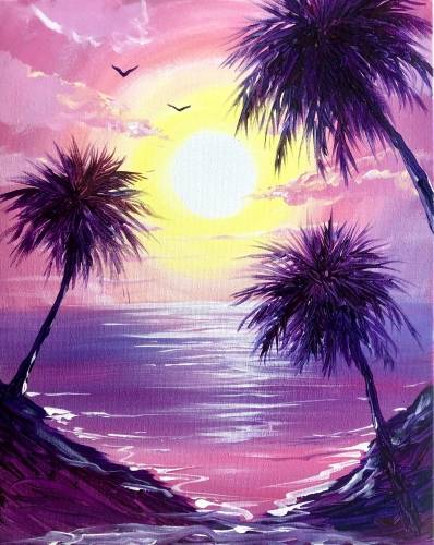 A On Tropical Shores paint nite project by Yaymaker