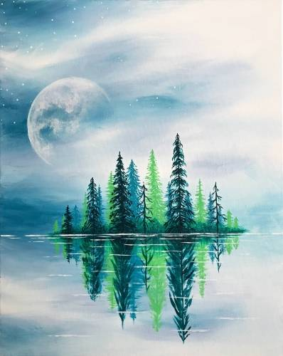 A Crisp Spring Lake paint nite project by Yaymaker
