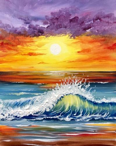 A Sun Kissed Wave paint nite project by Yaymaker