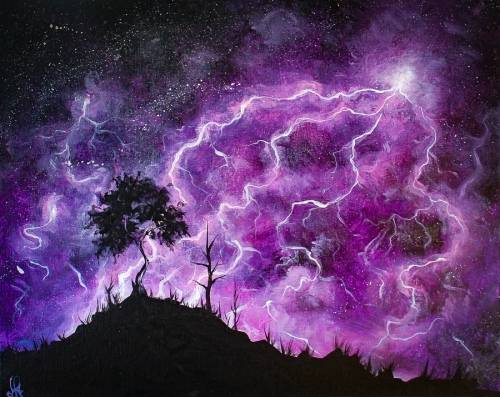 A Lavender Lightning paint nite project by Yaymaker