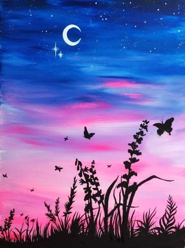 A Butterfly Twilight II paint nite project by Yaymaker