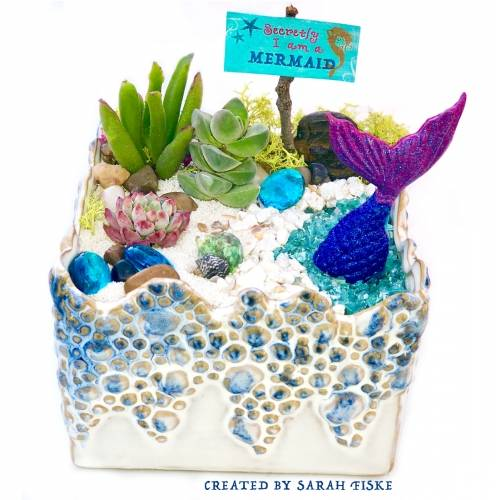 A MERMAZING in Sea Mist Planter plant nite project by Yaymaker