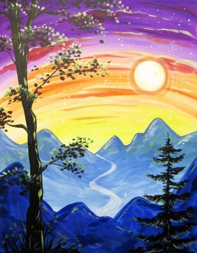 A Moonlit Overlook paint nite project by Yaymaker