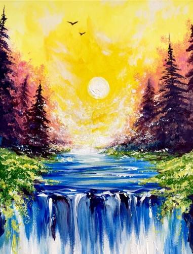 A Tranquility Falls paint nite project by Yaymaker