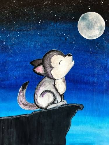 A Baby Howler paint nite project by Yaymaker