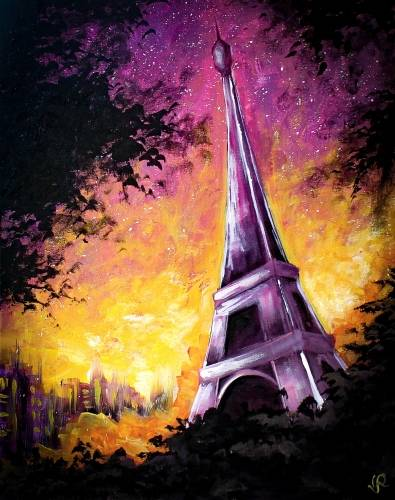 A Purple Paris paint nite project by Yaymaker