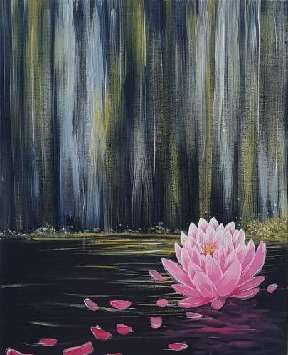 A Lotus Waterfall paint nite project by Yaymaker