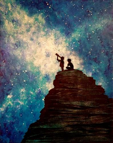 A Stargazing Dreamers paint nite project by Yaymaker