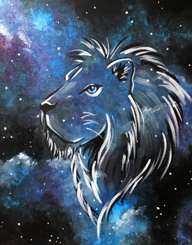 A Leo  Cosmic Series paint nite project by Yaymaker