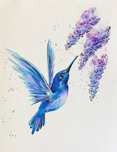A Hummingbird Takes Flight III paint nite project by Yaymaker