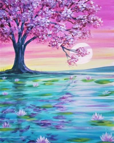 A Morning on the Lily Pond paint nite project by Yaymaker