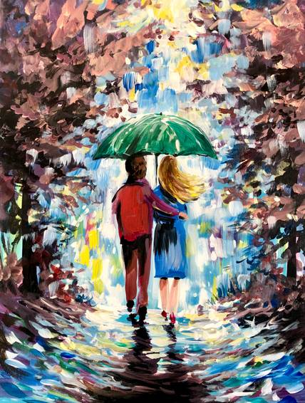 A The Sweetest Path paint nite project by Yaymaker