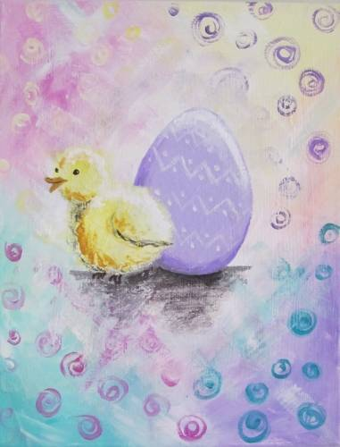 A Pastel Easter Chick paint nite project by Yaymaker
