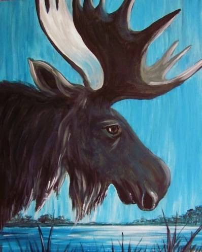 A Majestic Moose paint nite project by Yaymaker