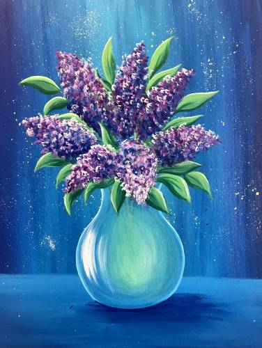 A Lilac Sparkle paint nite project by Yaymaker