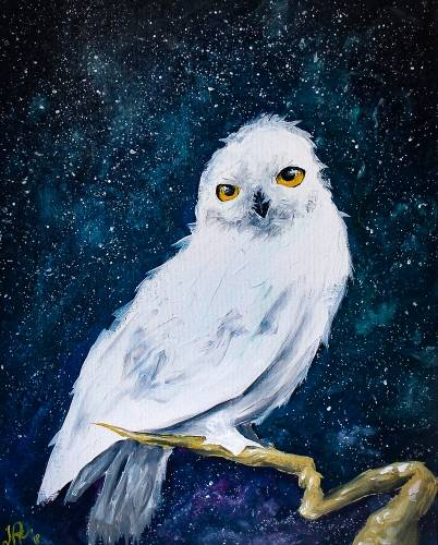 A White Owl paint nite project by Yaymaker