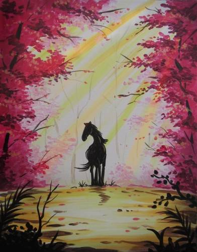 A Red Forest Stallion paint nite project by Yaymaker