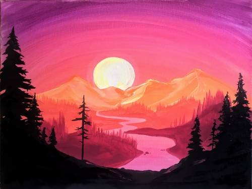 A Sunset Silhouette III paint nite project by Yaymaker