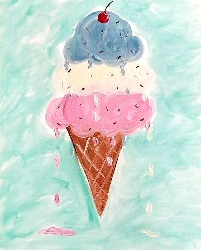 A I Scream You Scream paint nite project by Yaymaker