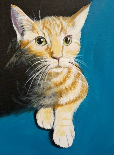 A Custom Paint Your Pet Event II paint nite project by Yaymaker