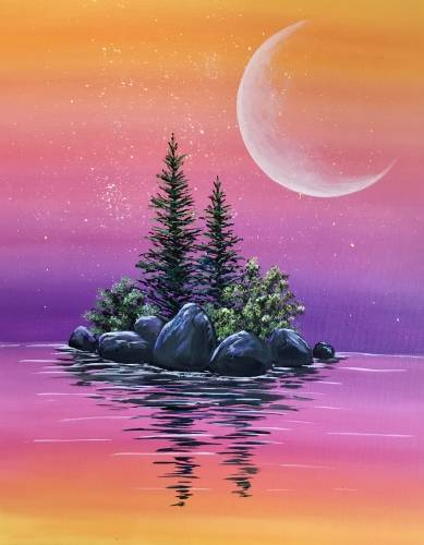 A Sunset Island II paint nite project by Yaymaker