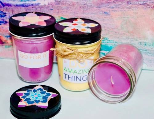 A Jelly Jar Spring Scents candle maker project by Yaymaker