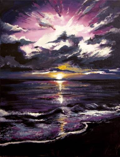 A Magenta Sunrise paint nite project by Yaymaker