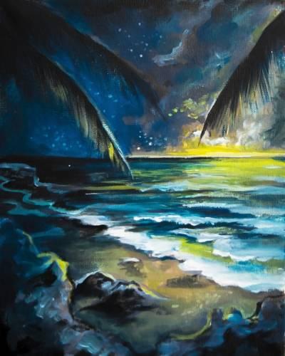 A Blue Hawaiian paint nite project by Yaymaker