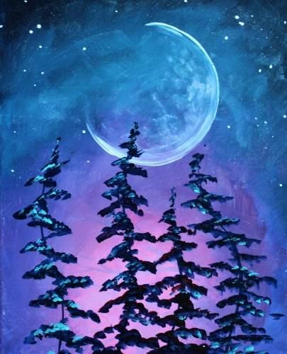 A Tipsy Trees paint nite project by Yaymaker
