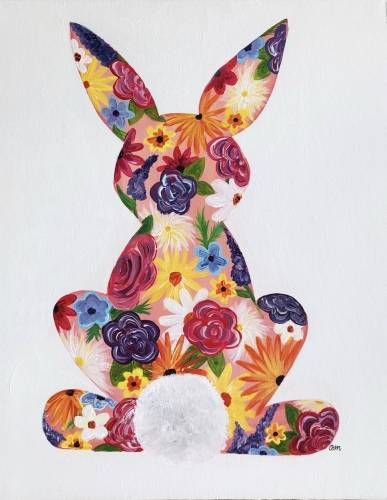 A Floral Bunny paint nite project by Yaymaker