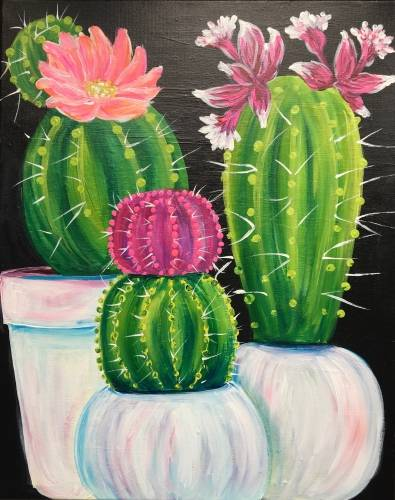 A Pretty Prickles paint nite project by Yaymaker