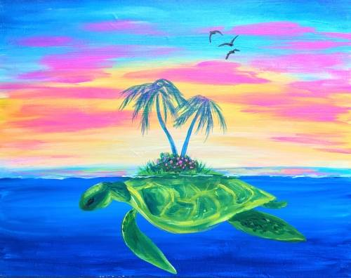 A Turtle Island paint nite project by Yaymaker