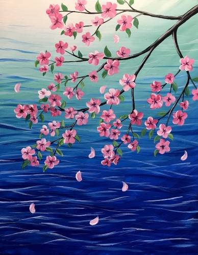 A Oversea Blossoms paint nite project by Yaymaker