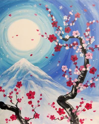 A Blossoms in Bloom paint nite project by Yaymaker