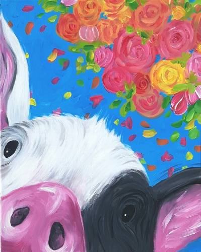 A Pretty Piggy paint nite project by Yaymaker
