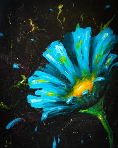A Cool Blue Flower II paint nite project by Yaymaker
