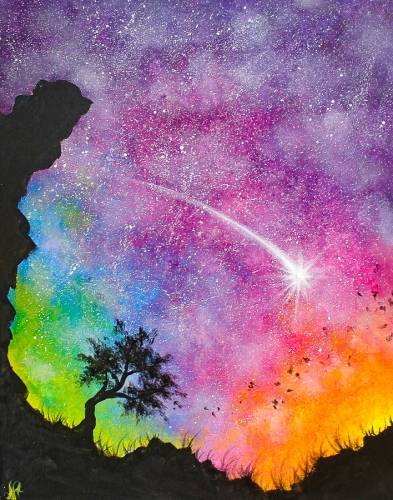 A Starry Sunrise paint nite project by Yaymaker