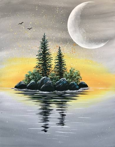 A Sunrise Island paint nite project by Yaymaker