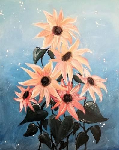 A Dreamlike Sunflowers paint nite project by Yaymaker
