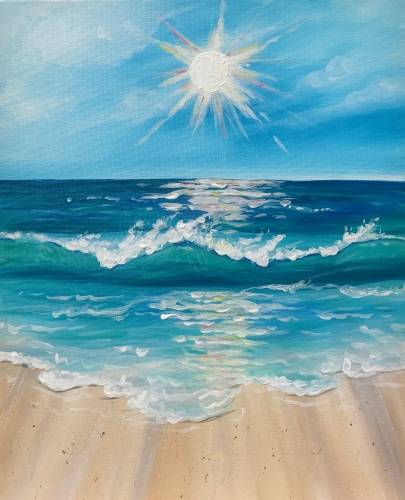A Starlight Beach paint nite project by Yaymaker