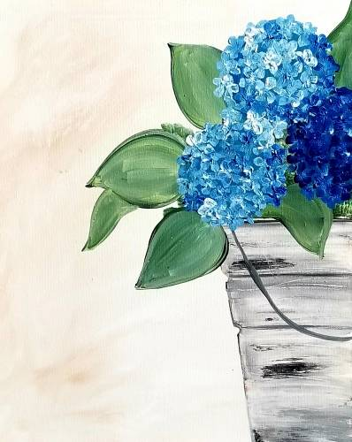 A Bucket Blues paint nite project by Yaymaker