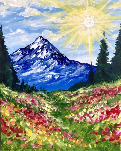 A Mountain Sunshine paint nite project by Yaymaker