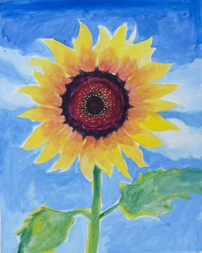 A Happy Sunflower III paint nite project by Yaymaker