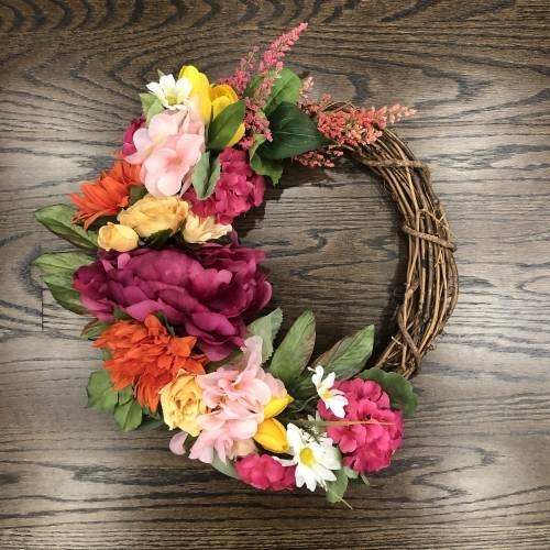 A Spring Wreath with Forever Flowers plant nite project by Yaymaker