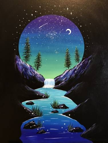 A Midnight Vignette paint nite project by Yaymaker