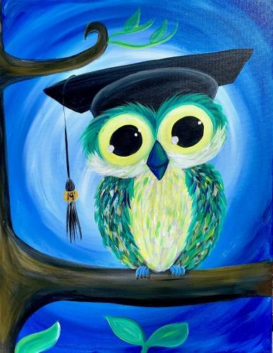 A Graduation Owl Customizable paint nite project by Yaymaker