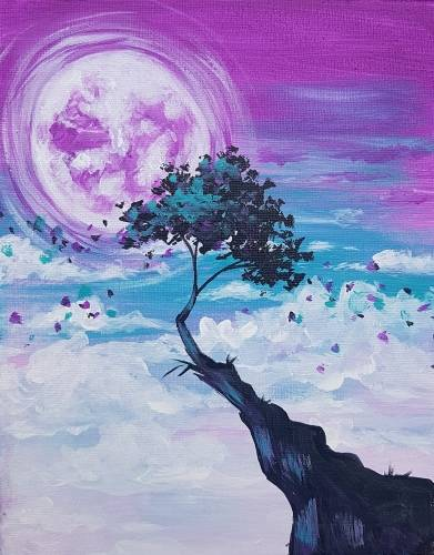 A Bonsai in the Clouds paint nite project by Yaymaker