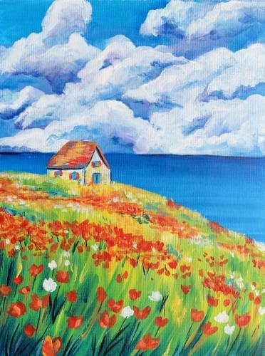 A Cottage by the Sea II paint nite project by Yaymaker